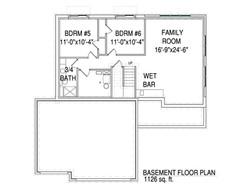Basement plan for The Drake