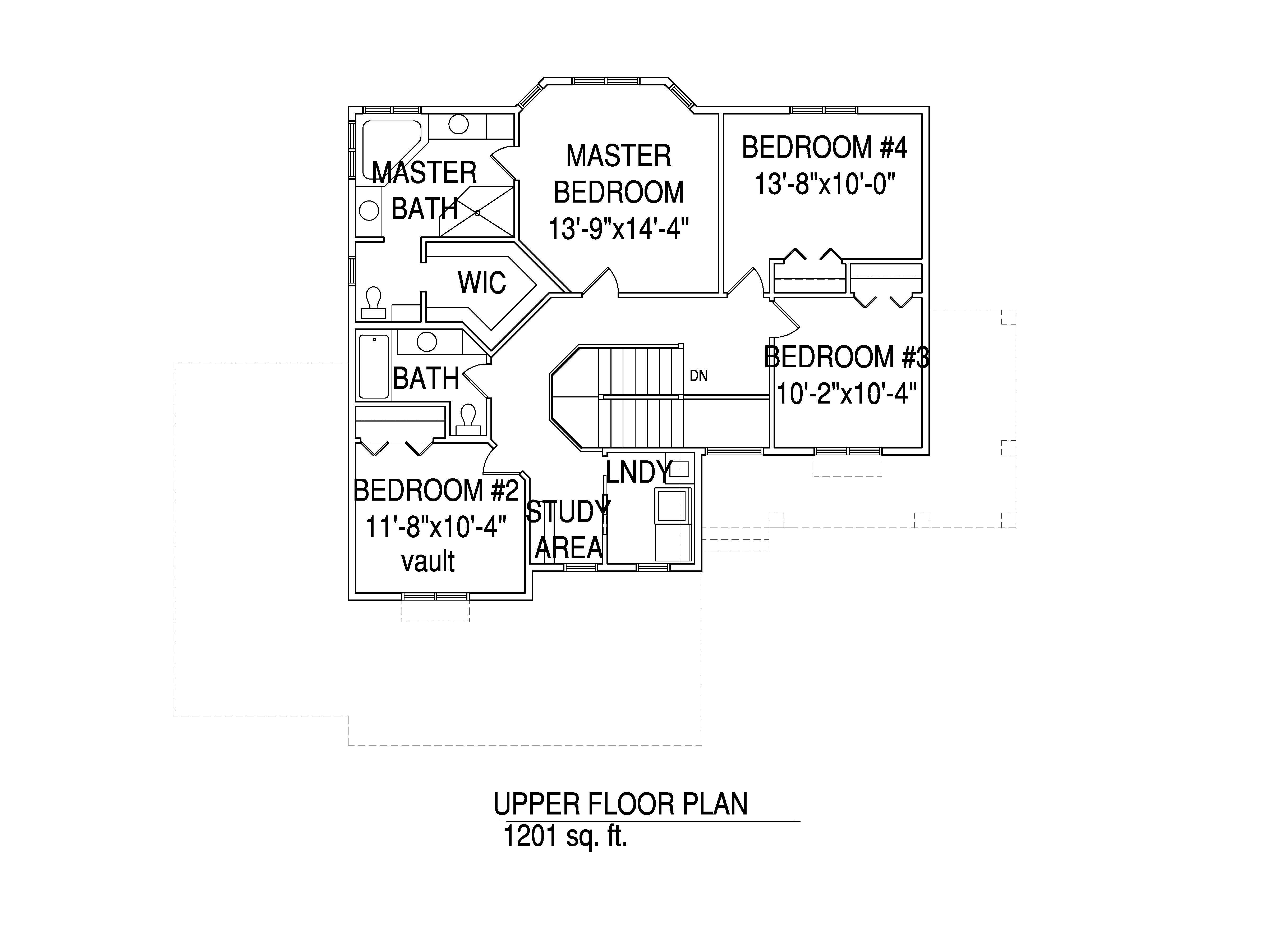 Upper floorplan The Jeanette