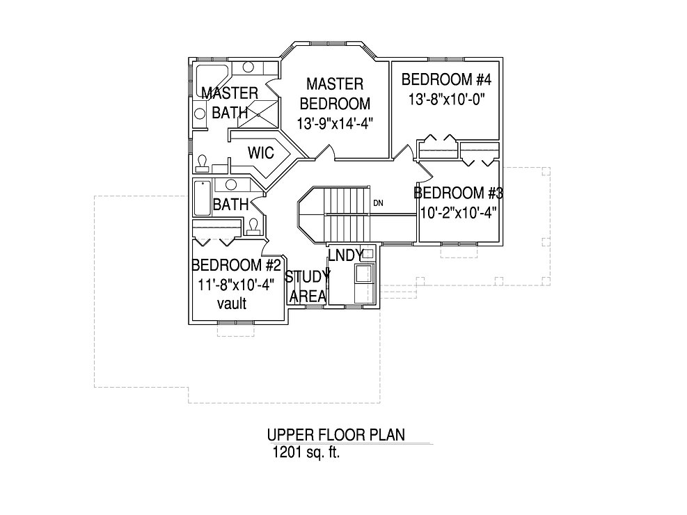 Upper floorplan The Jeanette