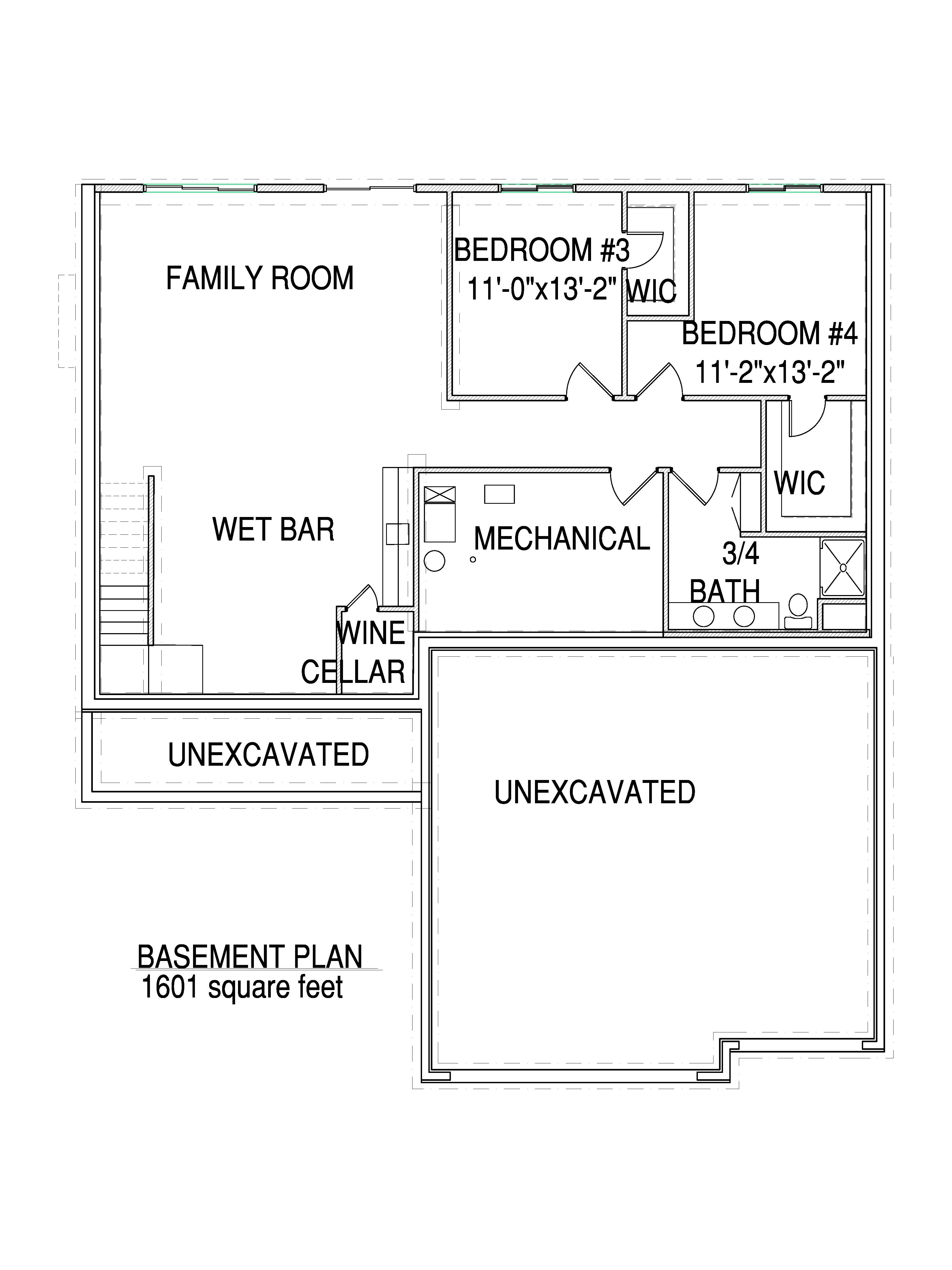 Basement floorplan Arro