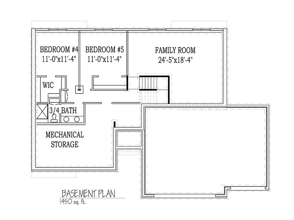 Basement floorplan Gracie