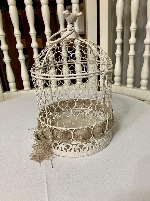 Burlap Bird Cage