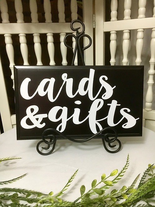 cards & gifts w/easel