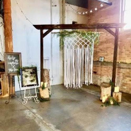 Wood Branch Macrame Backdrop