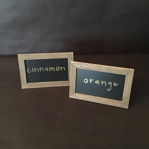Mini Rustic Chalkboards Customizable Vinyl Wording