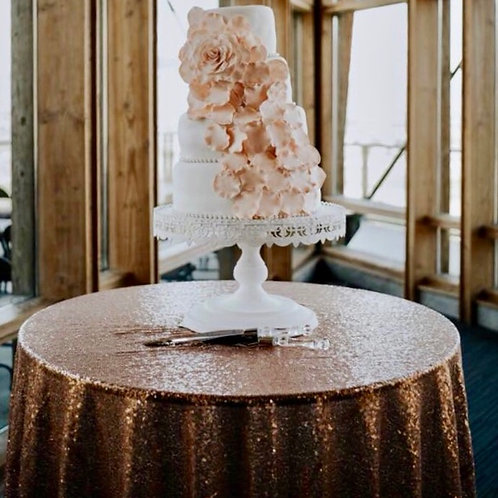 Rose Gold Cake Tablecloth
