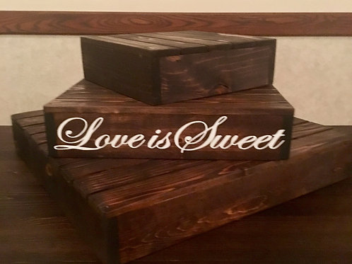 Love is Sweet 3 tier Cake Stand