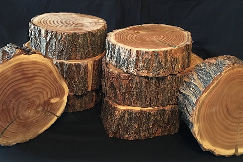 Finished Wood Rounds Centerpieces