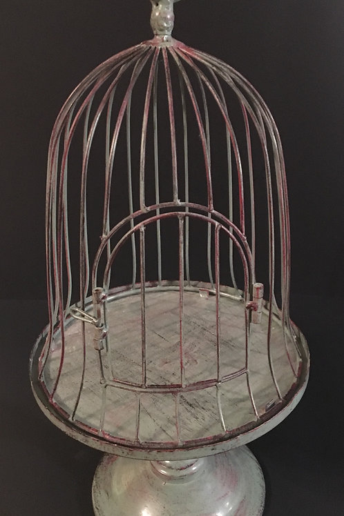 Rustic Teal Bird Cage