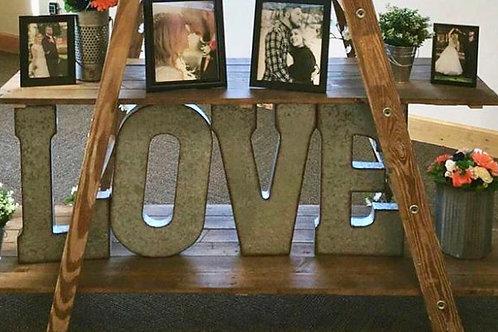 Rustic Tin LOVE