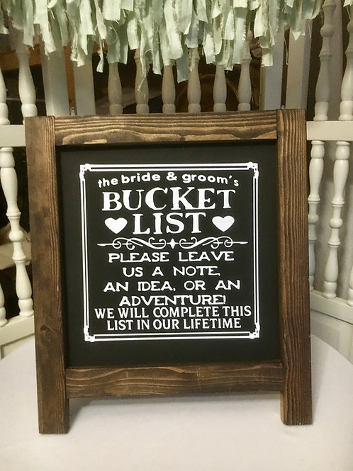 Bucket List and Bucket