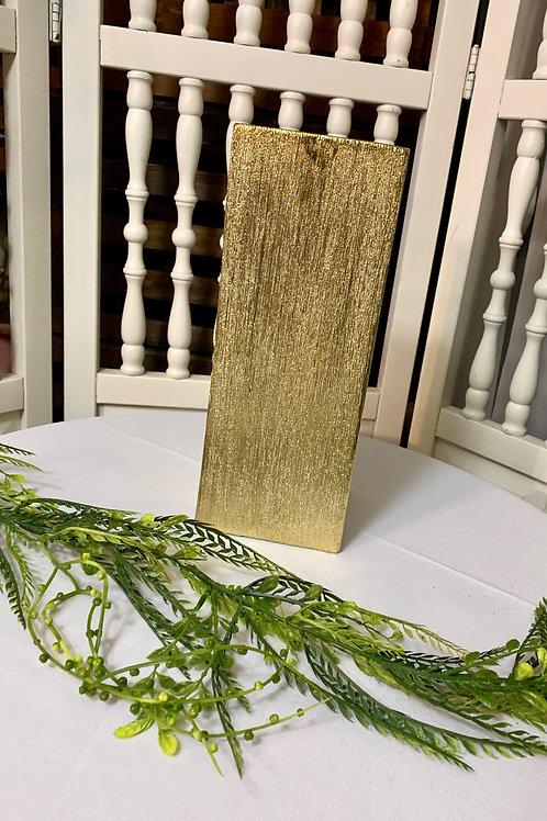 Square Gold Sparkler Vase