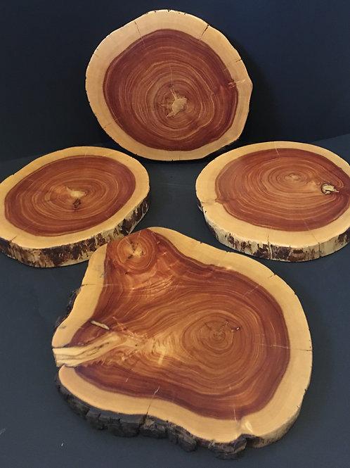 Wood Dessert Table Display Set of 8