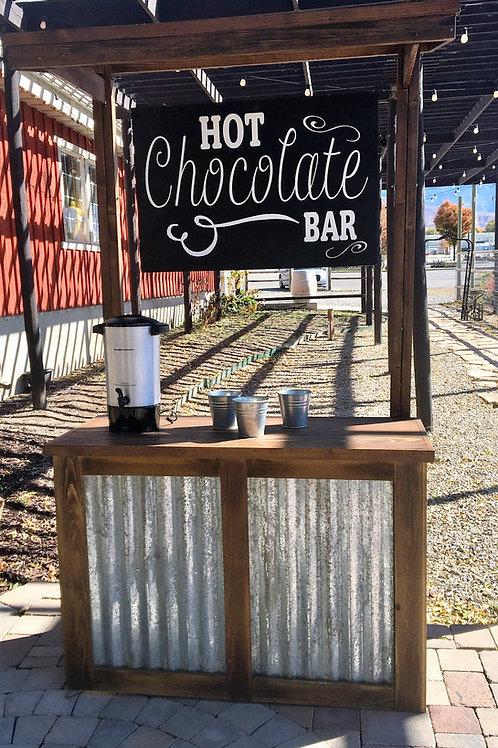 """Hot Chocolate Bar"" Galvanized Drink Station"