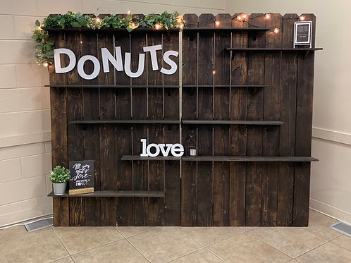 Rustic Wall Donuts Cookies Cakes Sandwiches