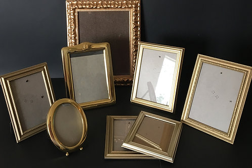 Assorted Gold Picture Frames
