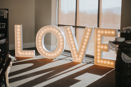 40 Inch Tall LOVE Sign Marquee Letters