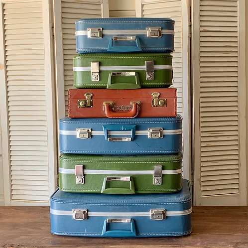 Vintage Suitcases (set of 6)