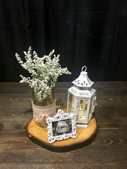 Off White Stagecoach Lantern