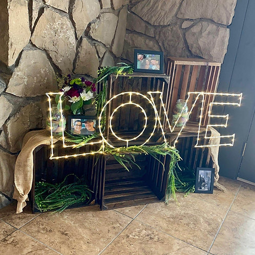 "Crate ""LOVE"" Decor Area"