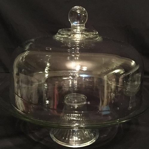 Glass Cake Stand w/Dome