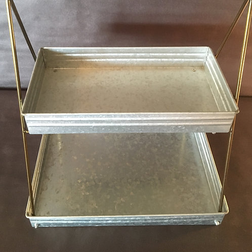 2 Tier Rectangle Serving Tray