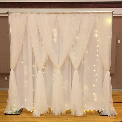 Netting Fairy Light Dbl Panel Pipe & Drape