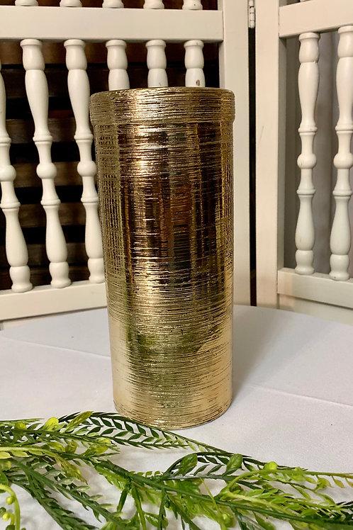 Gold Circle Sparkler vase