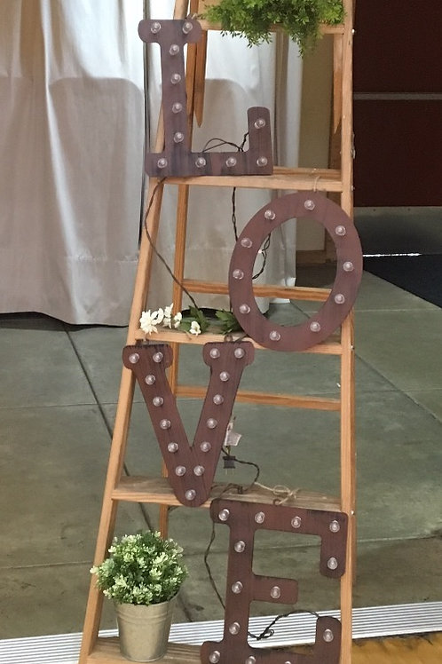 Rustic Metal Lighted Love