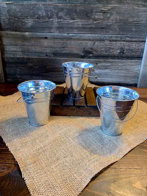 Tin Pails w/Handle Small