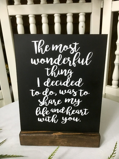 The most wonderful thing