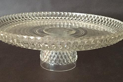 Handmade Vintage Crystal Cake Stand