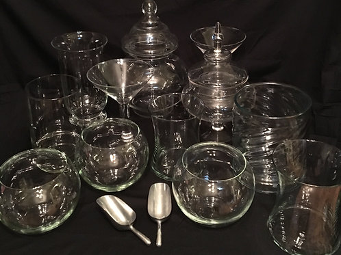 Large Candy Buffet Jars Set of 12