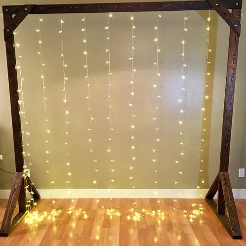 Handmade Timber Arch w/Fairy Lights