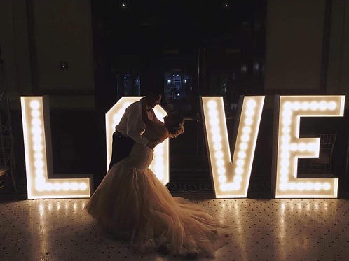 5 ft Tall LOVE Marquee Letters