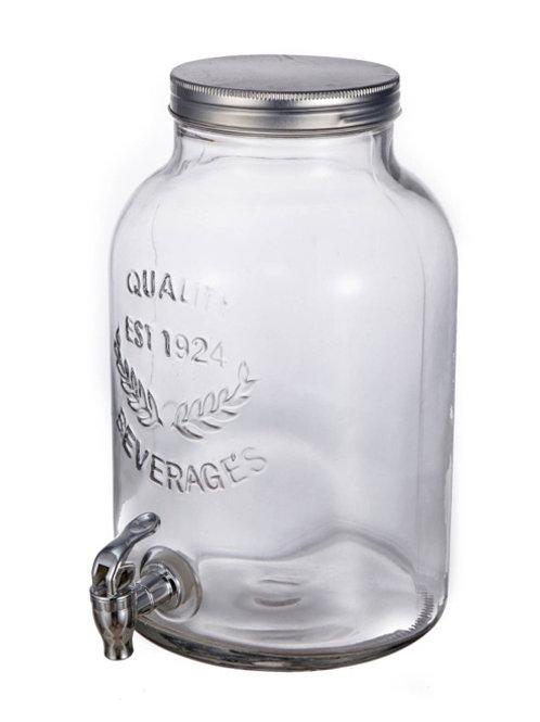 Mason Jar Beverage Dispenser w/Stand