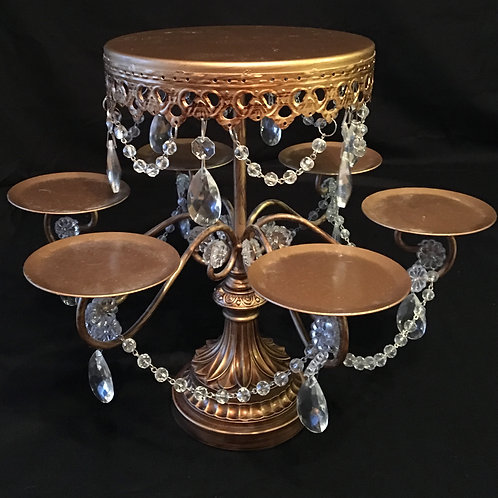 Gold Jeweled Cake/Cupcake Stand
