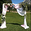 Thumbnail: Handmade Timber Arch w/Sheer Fabric and Greenery Swag