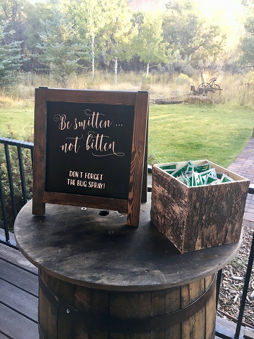 """Be smitten... not Bitten """"a"""" frame easel"""