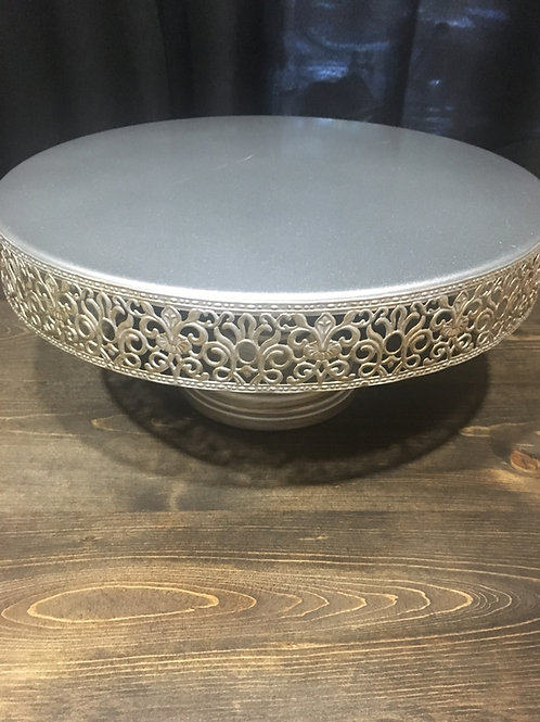 Mercury Silver/Gold Cake Stand
