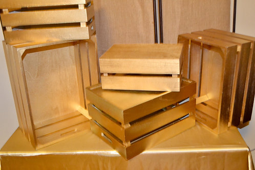 Small Gold Crates ( set of 5)