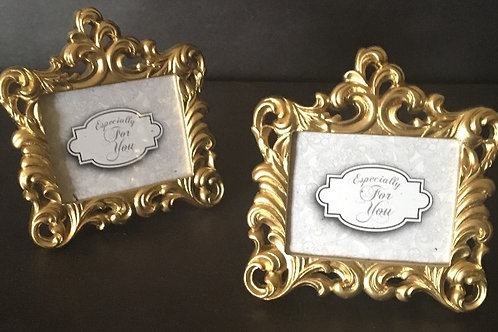 "Gold Table Numbers/Photo Holder 2""x3"""