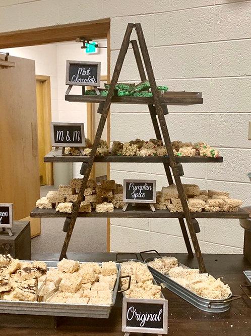 Tabletop Wood Dessert Ladder Shelf