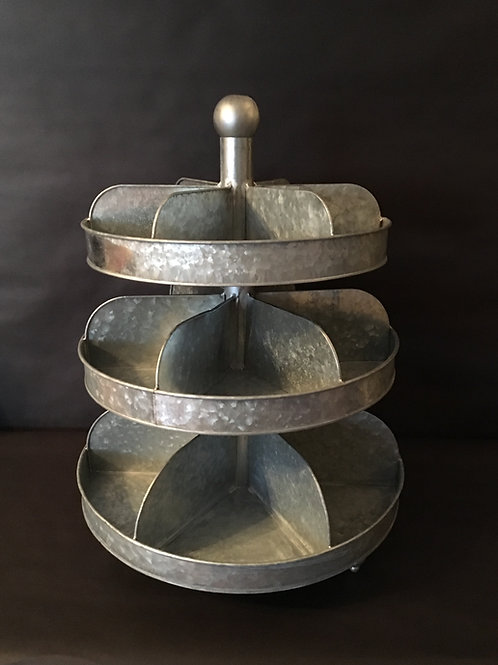 3 Tier Compartment Serving Stand