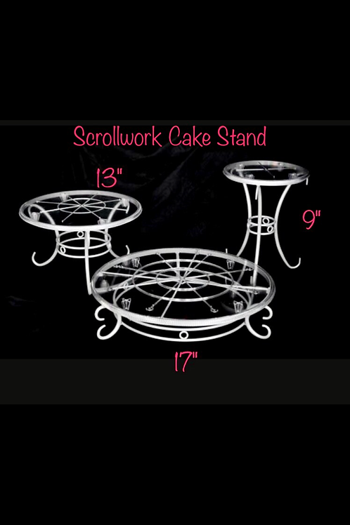 Scrollwork Cake Stand 3 pc