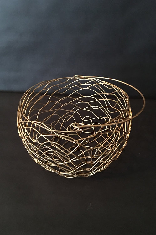 Gold Round Basket