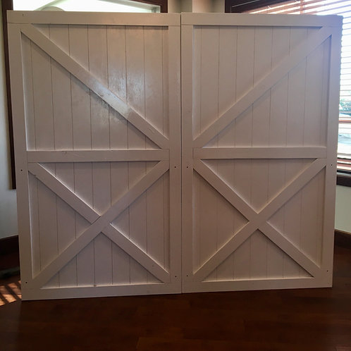 White Barn Doors