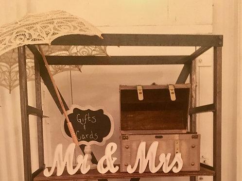 Mr & Mrs White Wood Cutouts