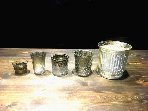 5 pc Mercury Votive Set