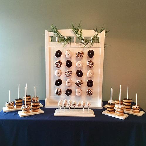 Elegant White Donut Display Stand Set